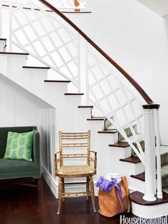 Geometric Banister | 7 Cool Staircases | House Beautiful