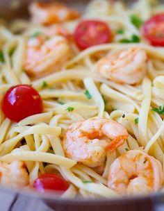Shrimp Scampi Linguine... Using gluten free noddles to make this ...