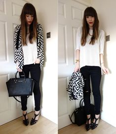 today: pattened monochrome // The Lovecats Inc