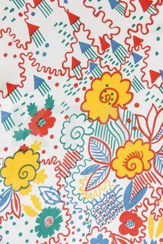 Celia Birtwell castle print (Kerry Taylor Auctions)