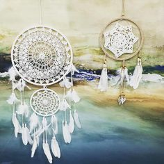 #beautiful #dreamcatchers are making a massive come back & #beachsidebargains has some simply stunning ones! #crochet #feathers #shells #natural #leather #dreams #interiors #instacool #inspo #interiorstyling #decor #art #neutrals #musthave @beachsidebargainsballina