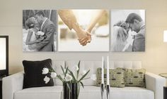 One or Two Gallery-Wrapped Canvas Prints or One Print from Canvas On Demand (Up to Off) - Fotos Hochzeit - Wedding Photo Walls, Wedding Photos, Canvas Wedding Pictures, Wall Canvas, Canvas Prints, Wall Art, Wall Collage, Wedding Canvas, Wedding Wall