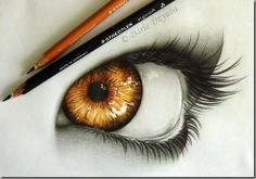 a cool realistic drawing of an eye