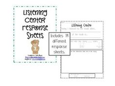 Free! Listening Center Reader-14 Response Sheets