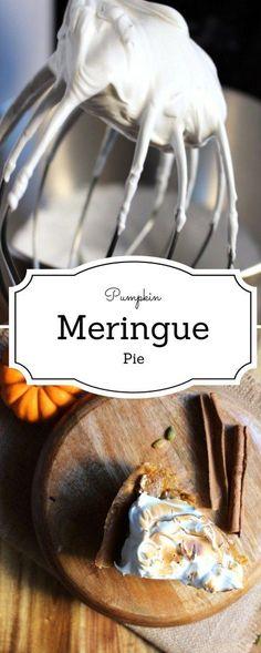 Pumpkin Meringue Pie - Being a huge fan of lemon meringue pie, I decided to lift up the humble pumpkin pie to a new level : Pumpkin Meringue Pie Level -IdrissTwist