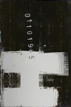 The addition of numbers makes this black and white paint texture seem altogether more urban.