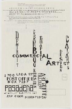 Edward Fella (designer), Dead End, 1995