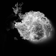 Fire in Black and White looks so much less dangerous and has really cool textures - by Slim Djiali