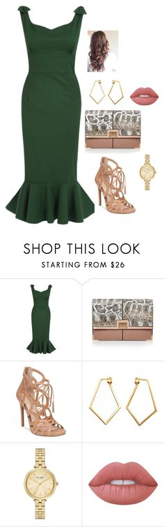"""""""Bez naslova #142"""" by chris-383 ❤ liked on Polyvore featuring River Island, Jessica Simpson, Dutch Basics, Kate Spade and Lime Crime"""