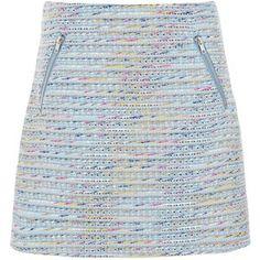 Warehouse Ribbon Tweed Skirt, Blue Pattern