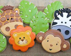 Zoo circo safari selva animales cupcake por itcanbeAPieceOfCake