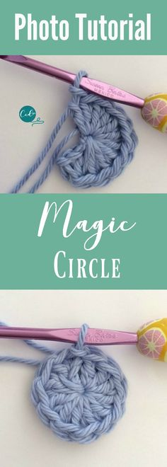 Crochet Magic Circle Photo Tutorial Learn to crochet the magic circle. So usefu… Crochet Magic Circle Photo Tutorial Learn to crochet the magic circle. So useful when crocheting in the round. Crochet Stitches For Beginners, Crochet Basics, Crochet Motifs, Crochet Stitches Patterns, Knitting Stitches, Crochet Round, Easy Crochet, Single Crochet, Crochet Instructions