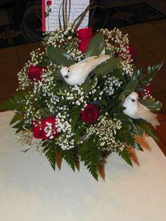 Valentine's Day flower arrangement for my wife. 2/14/2012