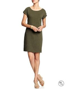 Banana Republic Factory Solid Slub Knit Dress - New Moss $44.99 - Buy it here: https://www.lookmazing.com/banana-republic-factory-solid-slub-knit-dress-new-moss/products/7259696?e=1&shrid=10289_pin