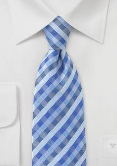 Check Patterned Kids Tie in Ocean Blues, $9.95 | Cheap-Neckties.com