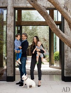 The old beams and black metal fittings!  Designer Jenni Kayne's Family-Friendly Los Angeles Home : Architectural Digest