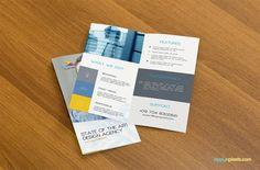 Professional Bifold Flyer Mockup - Free Flyer PSD Mockup | ZippyPixels