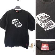 882d44c0b CHUNK Haynes Manual Mens Size (M) Black Classic Mini Car T-Shirt Top