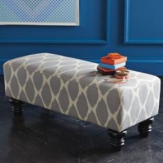 West Elm offers modern furniture and home decor featuring inspiring designs and colors. Create a stylish space with home accessories from West Elm. Upholstered Bench, Ottoman Bench, Bed Bench, Diy Ottoman, Home Design, Interior Design, My Living Room, Home And Living, West Elm Bench