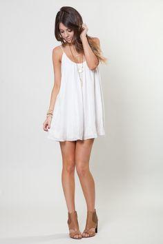 5afcb67cad9 Cute white dress for the rehearsal dinner! http   www.laurenly.