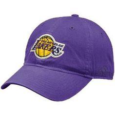 adidas Los Angeles Lakers Purple Basic Logo Slouch Hat