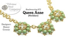 Make a Queen Anne Necklace. This video tutorial from The Potomac Bead Company teaches you how to make Honey Greenes Queen Anne necklace design. Find a list of supplies used in this project in the description below, by clicking show more. Our Website (Shop Jewelry Making Tutorials, Beading Tutorials, Beaded Necklace Patterns, Lace Necklace, Beaded Necklaces, Bracelet Patterns, Seed Bead Jewelry, Seed Beads, Jewelry Tree