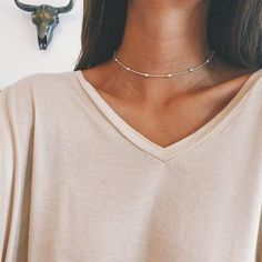 $13.99 SATELLITE CHAIN CHOKER - Available in Gold and silver. Perfect alone or for layering. Buy Yours Today at Sale Price from  www.FamilyDeals.store and celebrate your savings!