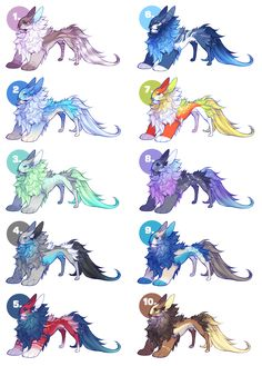 Yevren Dragon Mutation Adoptables - closed by VanillaToxin on DeviantArt