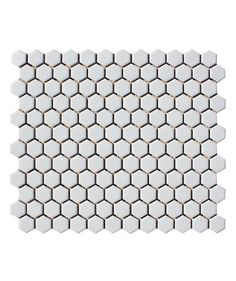 Shapes Hexagon Matt White 23x26mm Mosaic