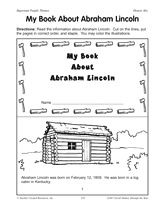 A mini-book about Abraham Lincoln (Grades 2-4) for Presidents' Day