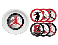 Air Jordan / Jumpman / Chicago Bulls / Michael Jordan   Plate Stickers (for  A · Jordan Baby ShowerMichael ...