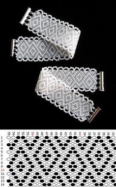 Схема браслета с бисеринфо