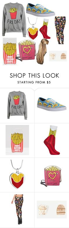 """""""Fries"""" by sisibff ❤ liked on Polyvore featuring Adolescent Clothing, Vans, ASOS, Topshop, Betsey Johnson, Full Tilt and France Luxe"""