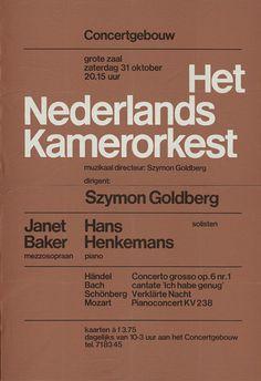 Wim Crouwel, Het Nederlands Kamerorkest, c. 1960