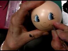 Como pintar cara fofucha 7 - How to paint fofucha face 7 - YouTube Light Bulb Crafts, Doll Videos, Clothespin Dolls, Foam Crafts, Doll Face, Craft Tutorials, Art Dolls, Biscuit, Sewing Crafts