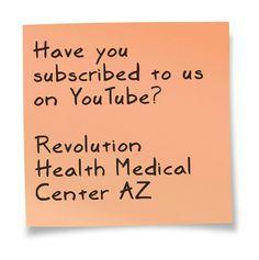 We are now on YouTube!  Revolution Health Medical Center AZ