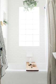 White, bright bathroom