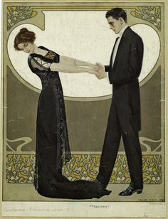 """Clarence Coles Phillips, Life Magazine cover (December 7, 1911) """" A Christmas Design"""""""
