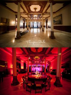 Uplighting Before And After Wedding Lighting Event