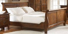 Attic Rustic King Sleigh Bed by Broyhill Broyhill Furniture, Oak Bedroom, Sleigh Beds, Attic, King, Google Search, Home Decor, Bed Ideas, Loft Room