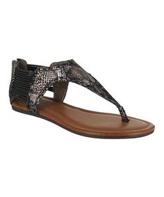 Another great find on #zulily! Black Snake Castaway Sandal by MIA Shoes #zulilyfinds