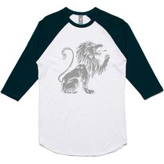 theIndie Lion Heraldry 3/4-Sleeve Raglan Baseball T-Shirt