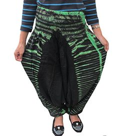 TIE DYE FISHERMAN YOGA PANTS HIPPIE BAGGY TROUSERS RAYON FREE SIZE * Check this awesome product by going to the link at the image.