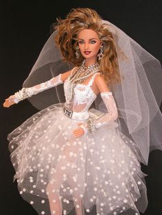 Madonna Barbie - Like a Virgin at 1985 MTV Awards - this looks a whole lot like one of my prom dresses.