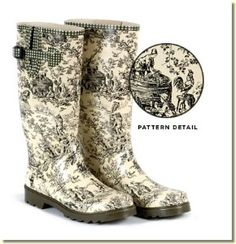 Tamara Henriques - Women's Hunter Toile Rain Boots...says no longer available and that is a real shame!!!  :-(