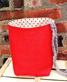 Reversible Knitting Bag Crochet Project Bag by KnittingBagAndCase