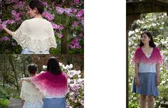 Tulip Dreams pattern by AnneLena Mattison Bridesmaid Shawl, Sister Wedding, Work Tops, Tulips, It Cast, Ruffle Blouse, Knitting, Lace, Dreams