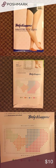 Body Wrappers Stirrup Tights - Jazzy Tan Body Wrappers Stirrup Tights - Jazzy Tan. Adult size SML/MED. Never worn! Still in package! Body Wrappers Accessories Hosiery & Socks