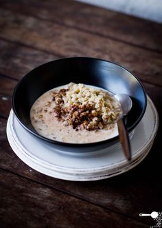 Pearl Barley (+ Cacao) Porridge. Tip: Make a larger batch and store cooked barley in the fridge for 2-3 days