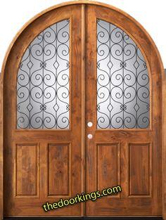 Rustic roundtop door. www.thedoorkings.com
